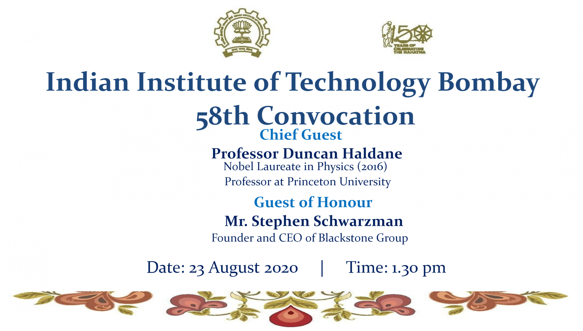 58th Convocation Poster