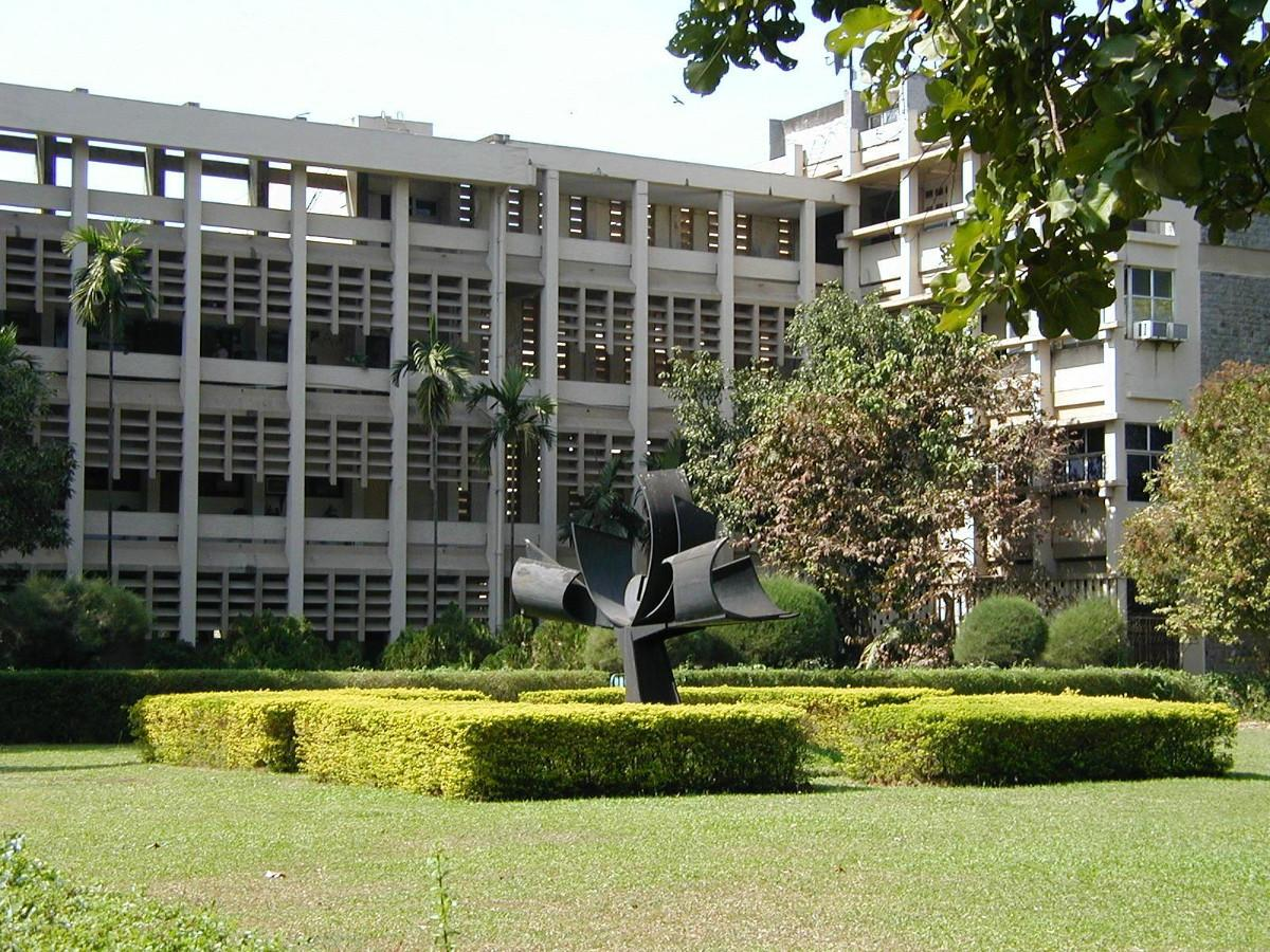 """Main Building overlooking the """"Knowledge Tree"""""""